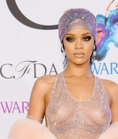 Rihanna CFDA Fashion Awards See Through Dress 3