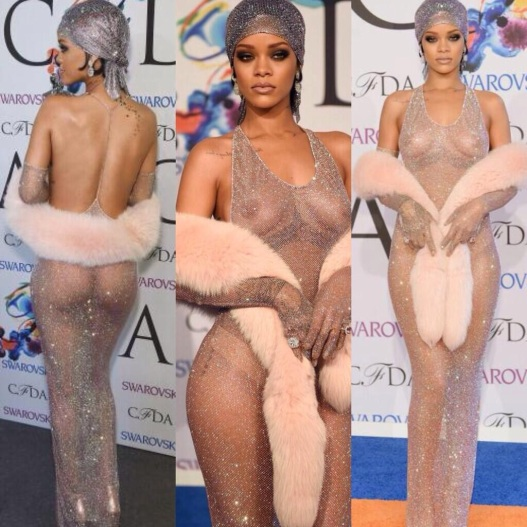 Rihanna CFDA Fashion Awards See Through Dress