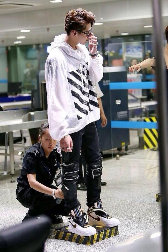 Off White Jacket Saint Laurent Leather Trousers Air Force 1 x Tisci Sneakers
