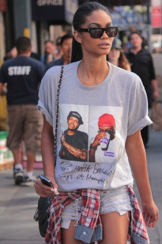 Chanel Iman walking after a fashion show 2
