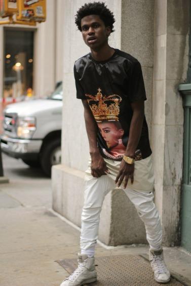 Fashion Blakc King Shirt White Pants The Steeze