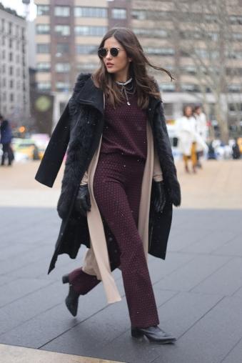 Fur Coat Burguny Suit