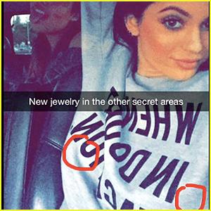 Kylie Jenner Nipple Ring SnapChat