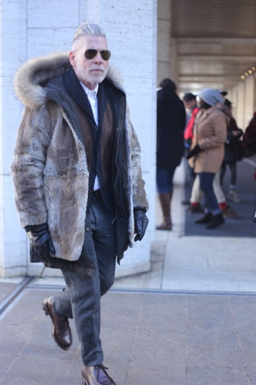 Nick Wooster at NYFW 2015