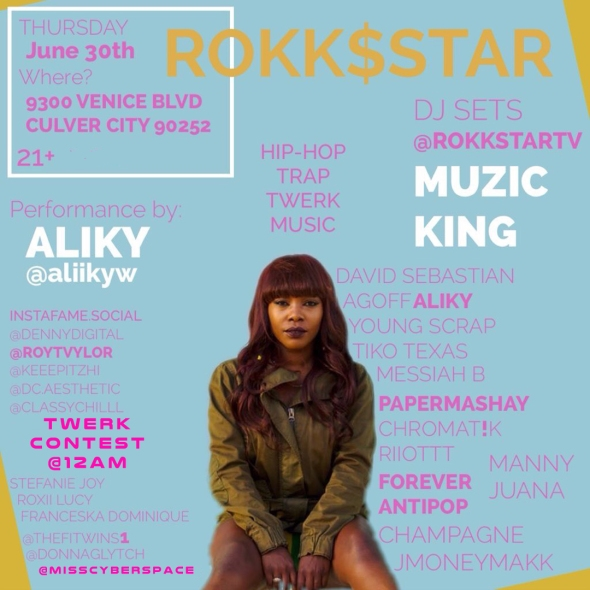Aliky RokkStar Party June 30